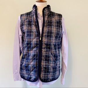 Croft & Barrow Plaid Quilted Vest